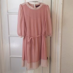 Ted Baker London Dresses - Ted Baker pink babydoll pleated dress 1
